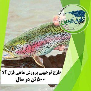 طرح توجیهی پرورش ماهی قزل آلا ۵۰۰ تن در سال