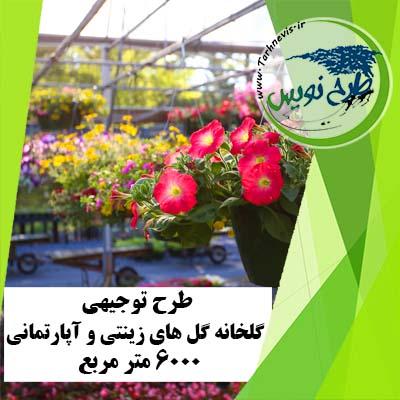 طرح توجیهی گلخانه گل های زینتی و آپارتمانی 6000 مترمربع