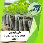 طرح توجیهی گلخانه تولید نشاء ۱ هکتار