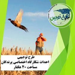 طرح توجیهی احداث شکارگاه پرندگان 40 هکتار